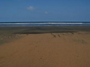 La arena de la playa